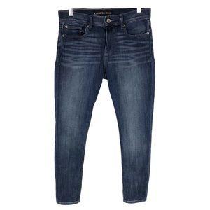 Express Jeans Mid Rise Legging 6 Slim Medium Wash